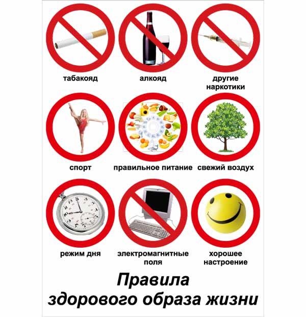 правила здорового образа жизни на английском